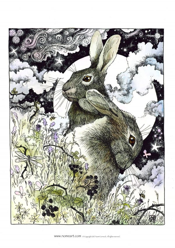 Hares in the Hedgerows