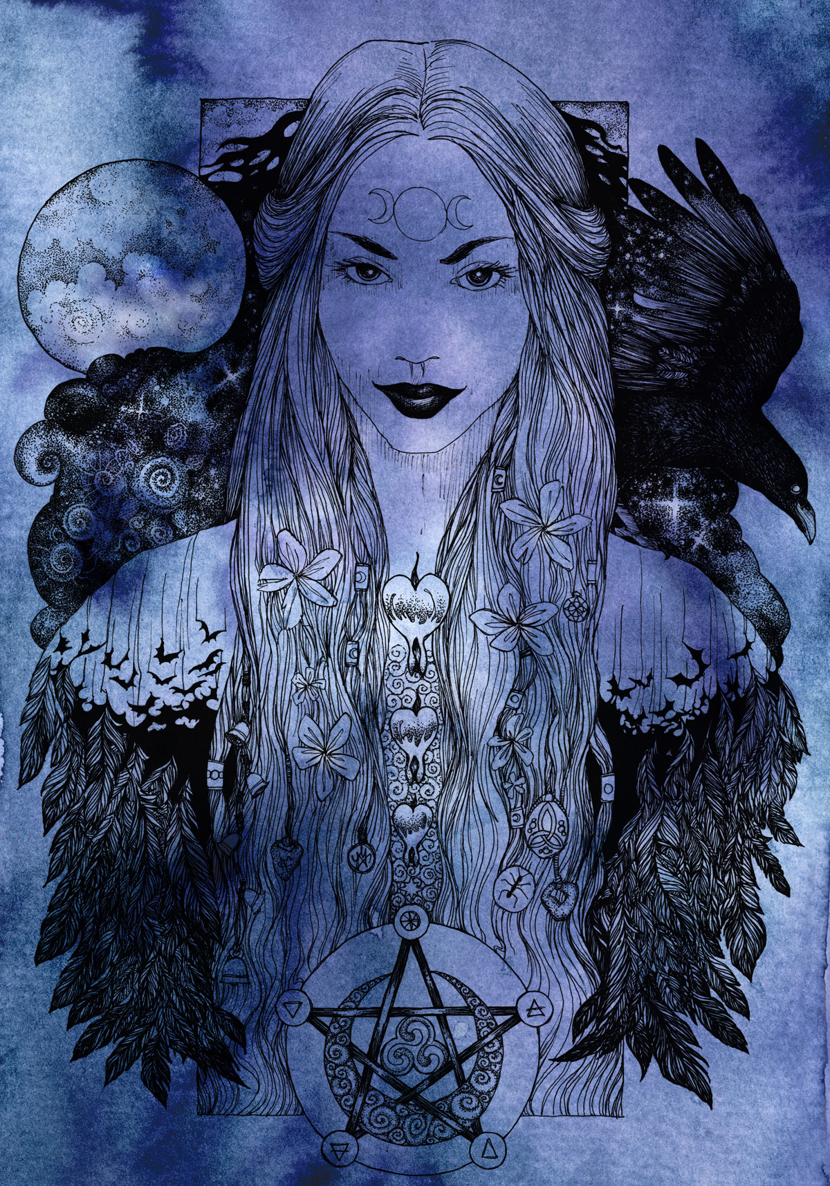Nyx Mother Goddess Of The Night Nomeart