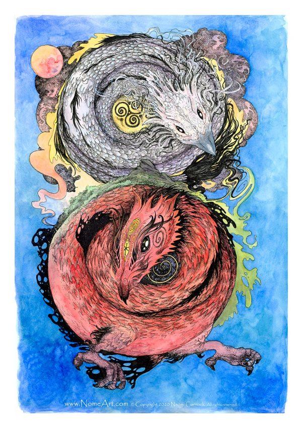 Duelling Dragons by Naomi Cornock