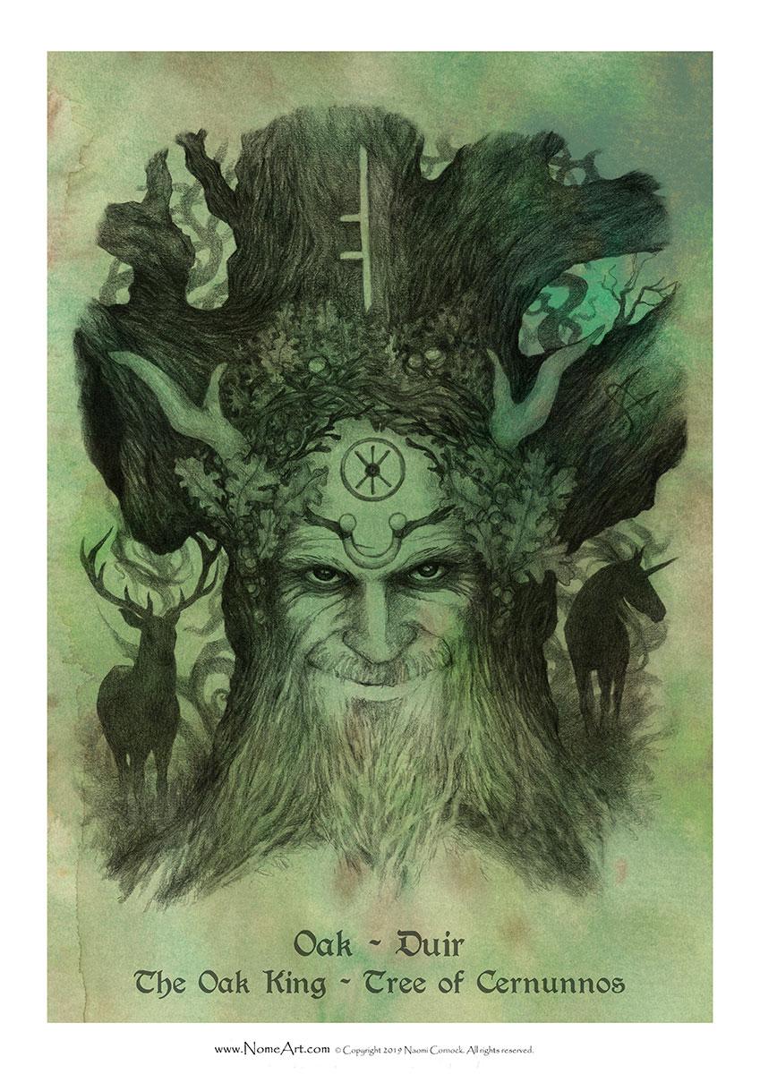 Oak Duir: The Oak King, Tree of Cernunnos