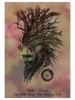 Holly King Tree Spirit by Naomi Cornock