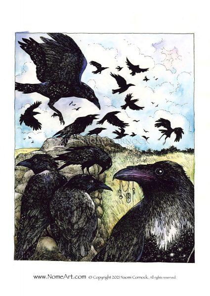 Ravens by Naomi Cornock