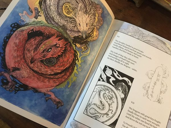 white red dragon page